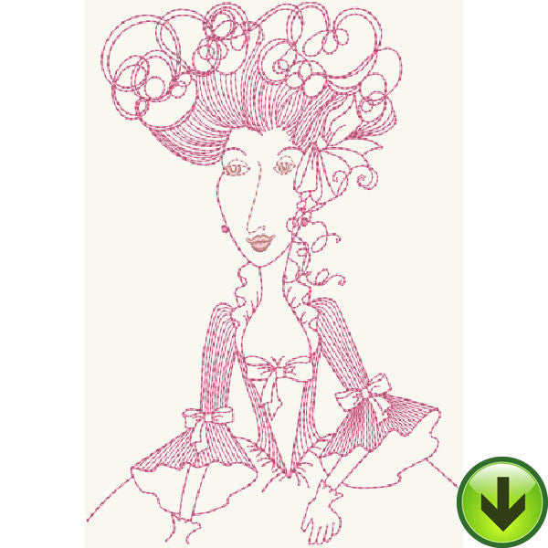 Madame Dubois Embroidery Design | DOWNLOAD