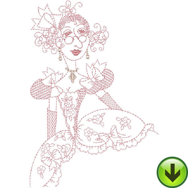 Madame LaDoux Embroidery Design | DOWNLOAD