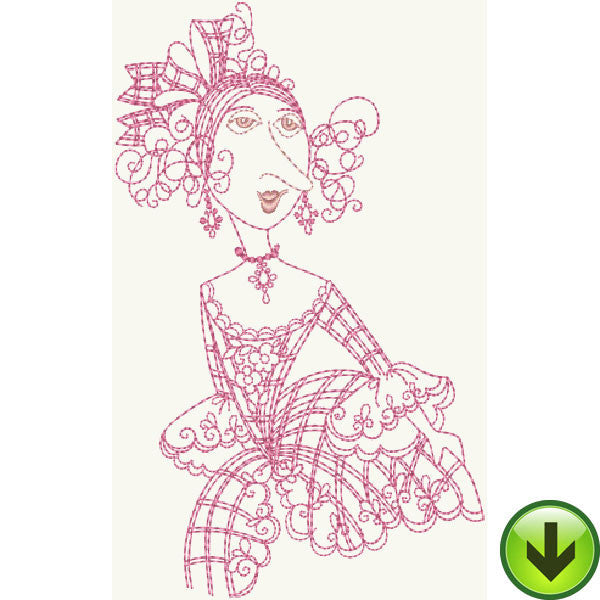 Madameoiselle LaBelle Embroidery Design | DOWNLOAD