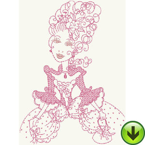 Queen Marie Antoinette Embroidery Design | DOWNLOAD