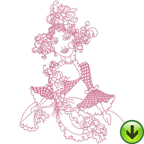 The Flower Model Embroidery Design | DOWNLOAD