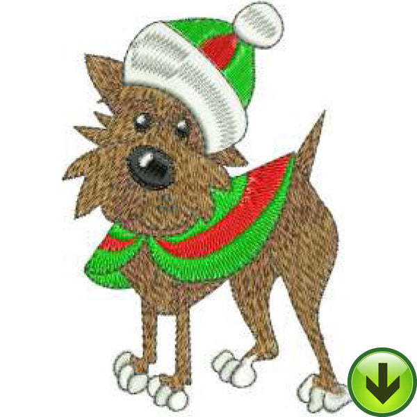 Doggie Holiday Embroidery Design Collection | Download