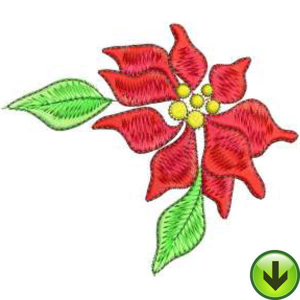 Poinsettia Embroidery Design | DOWNLOAD