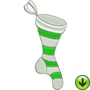 Stripe Sock Embroidery Design | DOWNLOAD