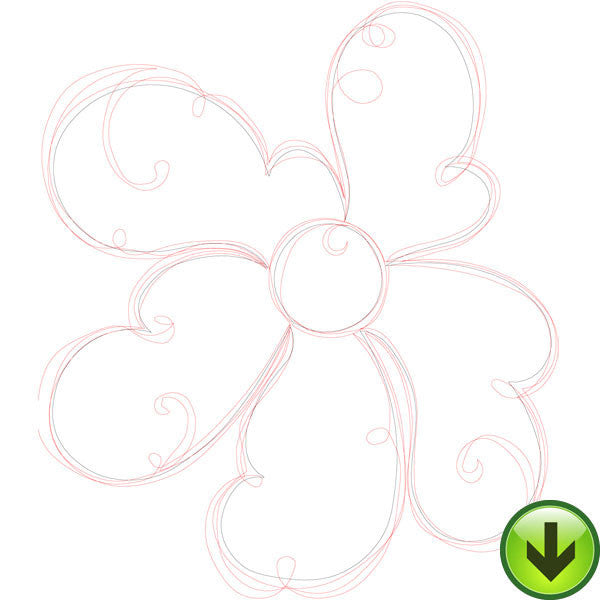 Scallop Flourish Embroidery Design | DOWNLOAD