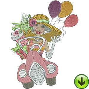 Go Party Embroidery Design | DOWNLOAD