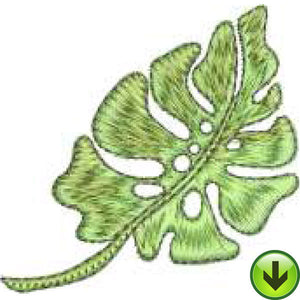 Happy Leaf Embroidery Design | DOWNLOAD