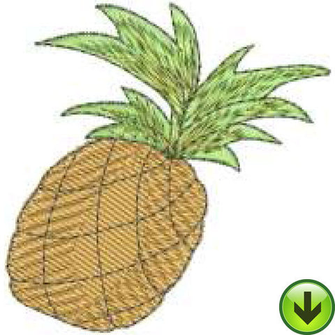 Happy Pineapple Embroidery Design | DOWNLOAD