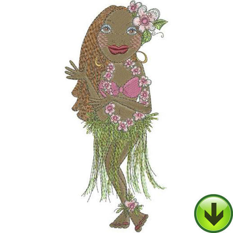 Hula Lena Embroidery Design | DOWNLOAD
