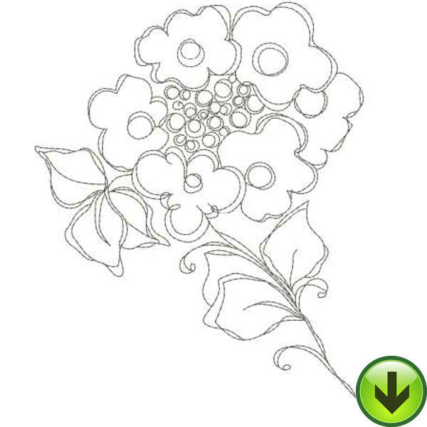 Posie 1 Embroidery Design | DOWNLOAD