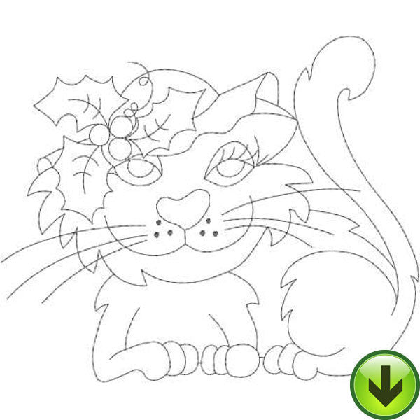 Holly Embroidery Design | DOWNLOAD
