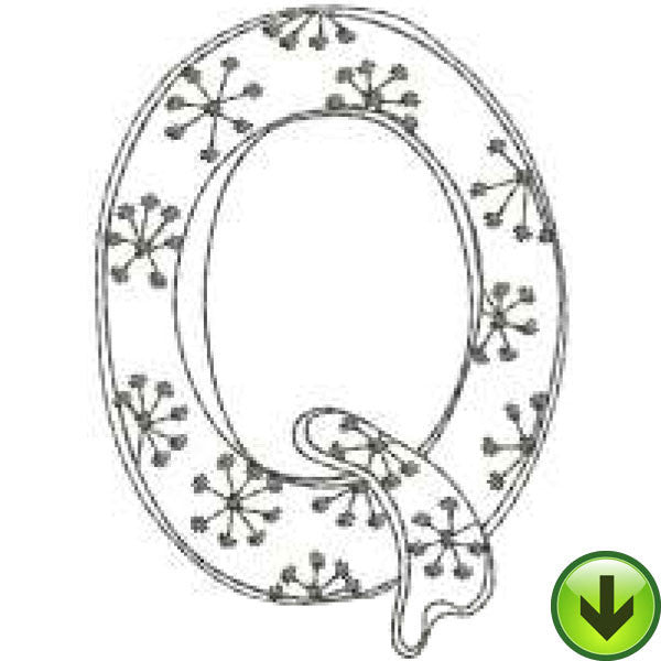 Q - Doodle Alphabet - Upper Case Embroidery Design | DOWNLOAD