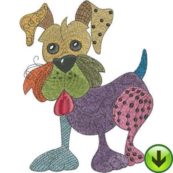 Dog Happy Machine Embroidery Design Collection Download