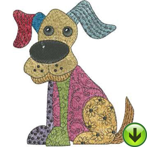 Dog Happy! Machine Embroidery Design Collection | Download