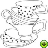 Ladies Tea 1 Machine Embroidery Collection | Download