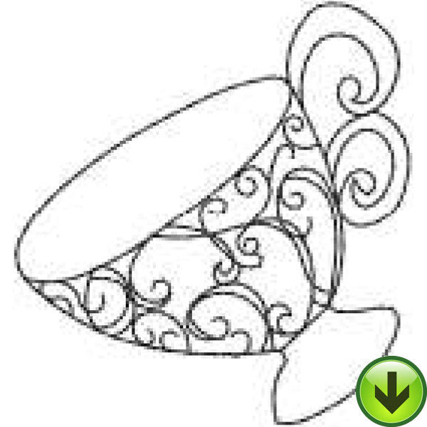 Ladies Tea 1 Embroidery Machine Design Collection