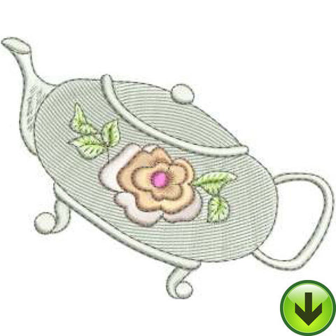 Rose Pot Embroidery Design | DOWNLOAD