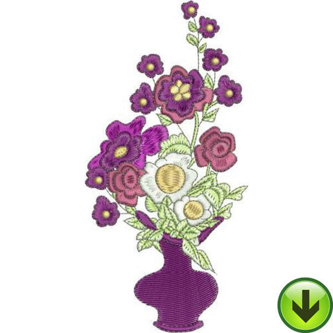 Tea Bouquet Embroidery Design | DOWNLOAD