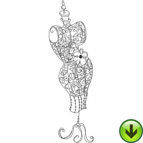 Dress Form 2 Embroidery Design | DOWNLOAD