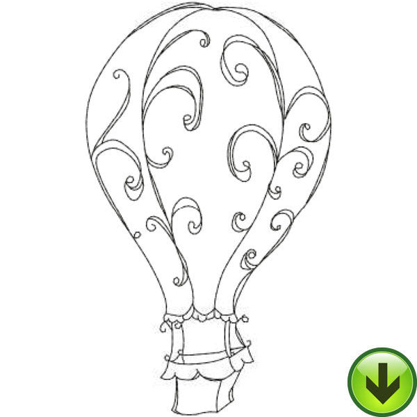 Scroll Balloon Embroidery Design | DOWNLOAD
