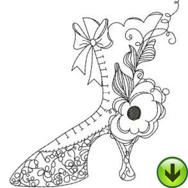Shoe 1 Embroidery Design | DOWNLOAD