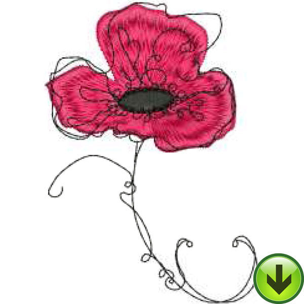 Poppy 3 Embroidery Design | DOWNLOAD
