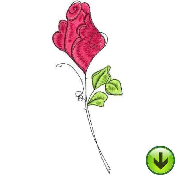 Rose 1 Embroidery Design | DOWNLOAD