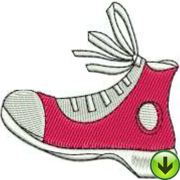 Scarlet Sneaker Embroidery Design | DOWNLOAD
