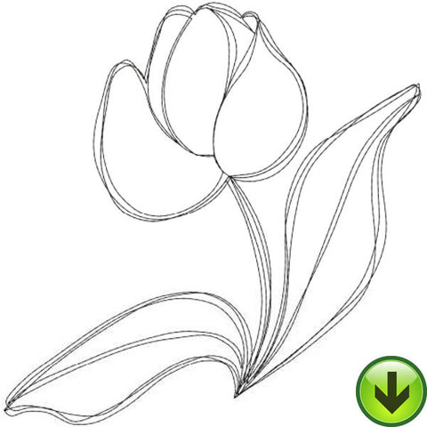 Tulip 2 Embroidery Design | DOWNLOAD