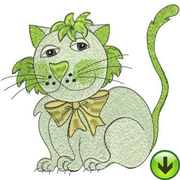 Eco Cat Embroidery Design | DOWNLOAD