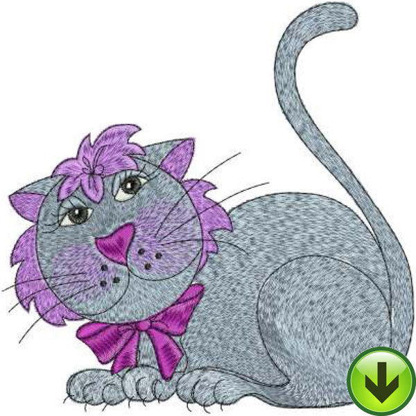 Heather Cat Embroidery Design | DOWNLOAD