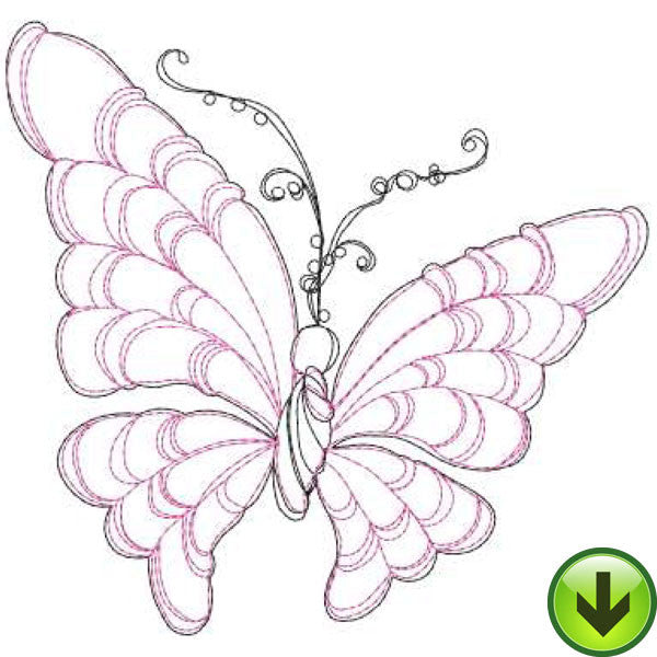 Beautiful Butterflies Embroidery Machine Design Collection | Download