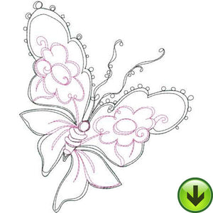 Spring on the Wing Embroidery Design | DOWNLOAD