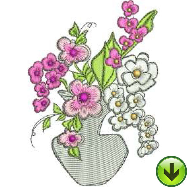 Pulpit Posies Machine Embroidery Design | Download