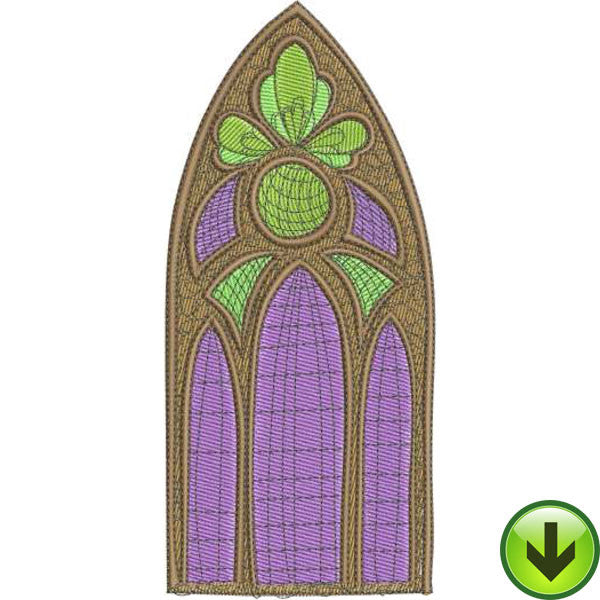 Window Glass Machine Embroidery Design | Download