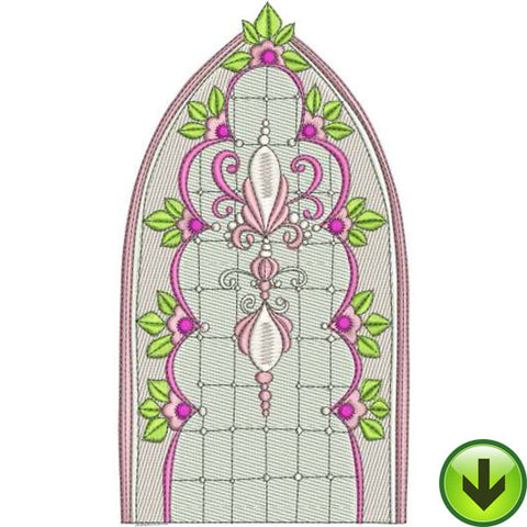 Window Pink Machine Embroidery Design | Download