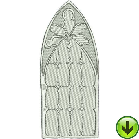 Window Stone Machine Embroidery Design | Download