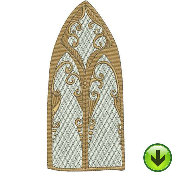 Window Wood Machine Embroidery Design | Download
