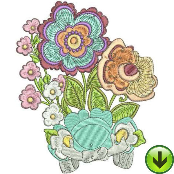 Petal Putt Putt Machine Embroidery Design | Download