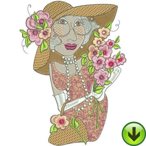 Rosalee Machine Embroidery Design | Download