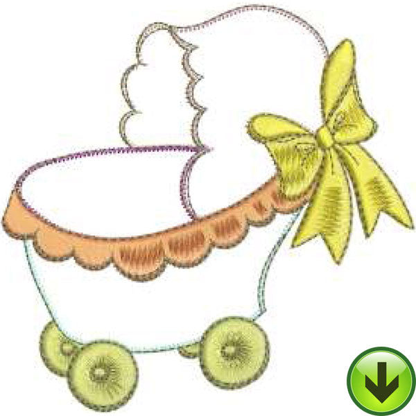 Baby Buggy Machine Embroidery Design | Download