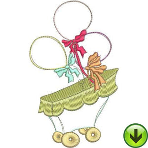 Balloon Buggy Machine Embroidery Design | Download