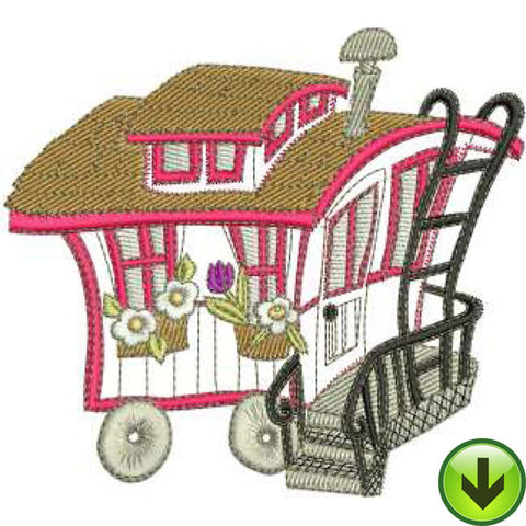 Caboose Machine Embroidery Design | Download