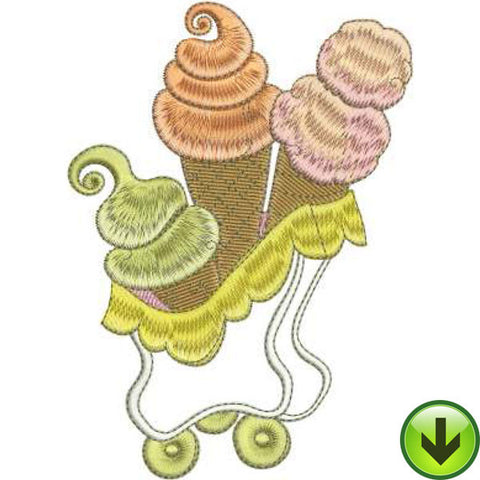 Cone Car Machine Embroidery Design | Download