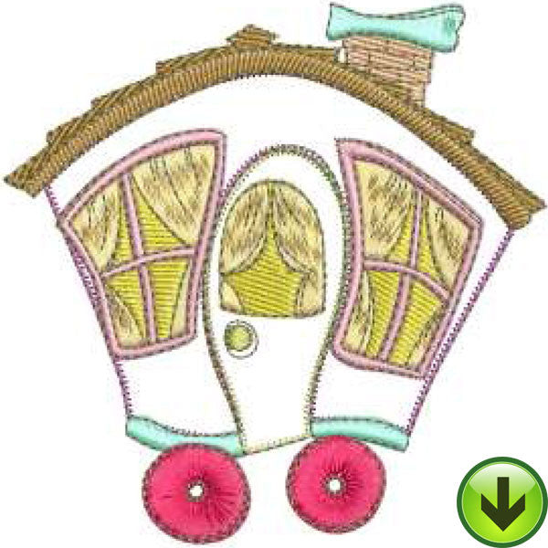 Home on Wheels Machine Embroidery Design | Download