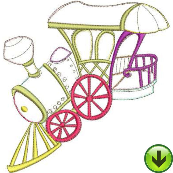 Loco Machine Embroidery Design | Download