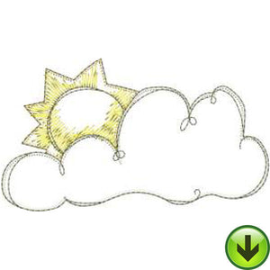 Sunny Cloud Machine Embroidery Design | Download