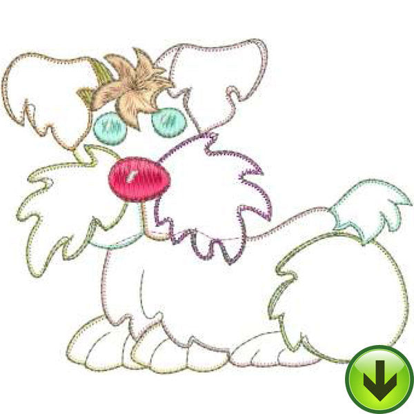 Bow Wow Machine Embroidery Design | Download