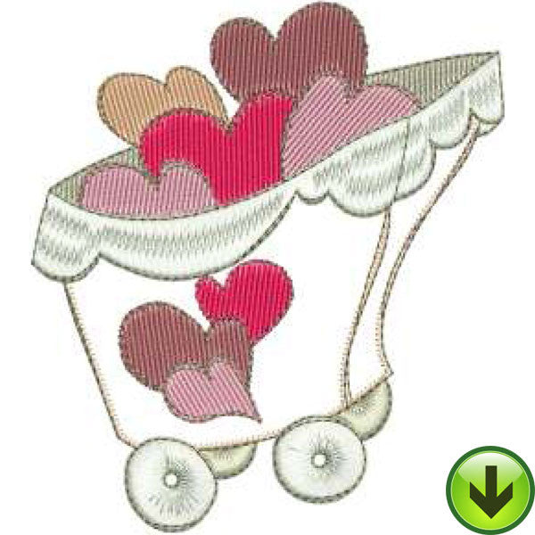 Load of Hearts Machine Embroidery Design | Download