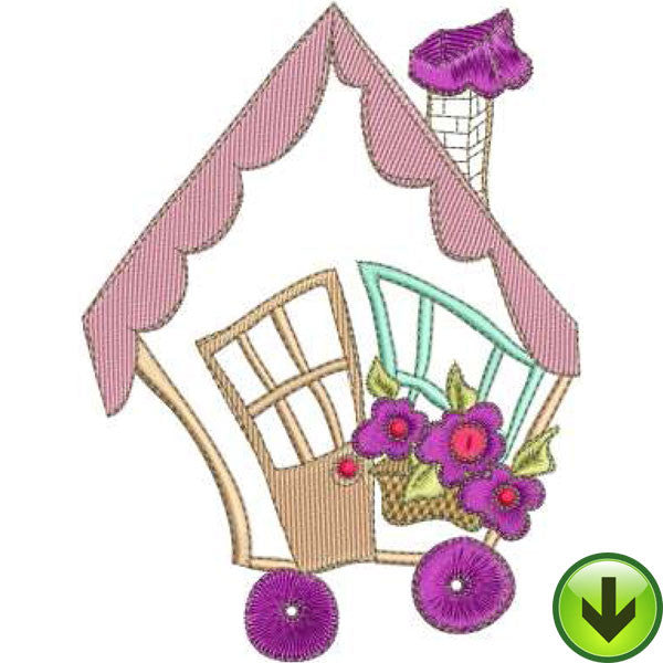 Cottage Car Machine Embroidery Design | Download